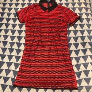 Red Striped Sheath Dress